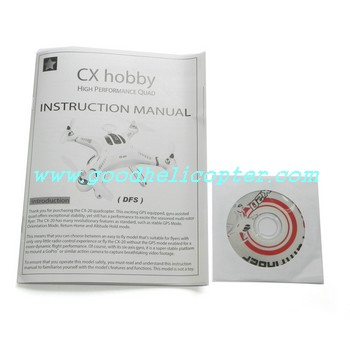 CX-20 quad copter parts Instruction sheet