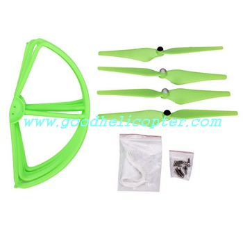 CX-20 quad copter parts Green color pack (blades + protection cover)
