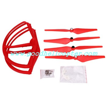 CX-20 quad copter parts Red color pack (blades + protection cover)