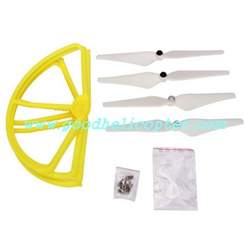 CX-20 quad copter parts Yellow color pack (blades + protection cover)