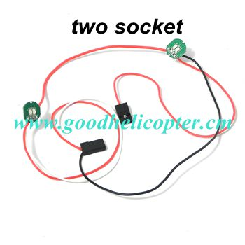 CX-20 quad copter parts LED light (two sockets)