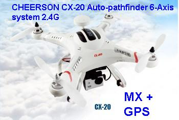 CHEERSON CX-20 Auto-pathfinder 2.4G 4CH 6-axis GPS positioning MX+GPS auto-return auto-pilot Quad Copter