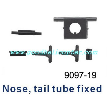 double-horse-9097 helicopter parts nose and tail tube fixed set 6pcs