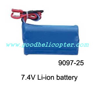 double-horse-9097 helicopter parts battery 7.4V 1100mAh