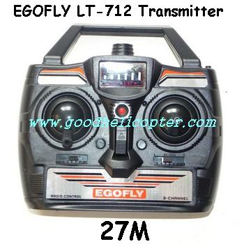 egofly-lt-712 helicopter parts transmitter (27M)