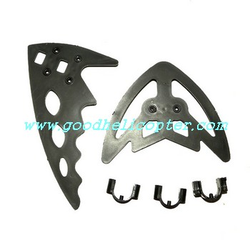 fq777-999-fq777-999a helicopter parts tail decoration set (black color)