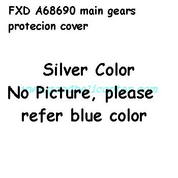 fxd-a68690 helicopter parts main motor protection cover (silver color)