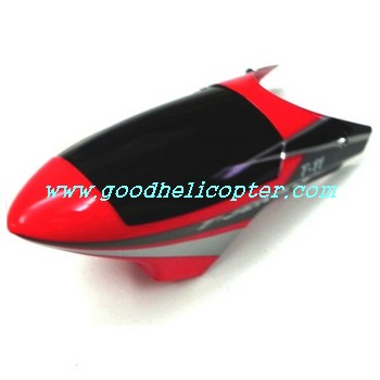 mjx-t-series-t11-t611 helicopter parts head cover (red color)