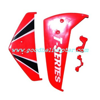 mjx-t-series-t11-t611 helicopter parts tail decoration set (red color)