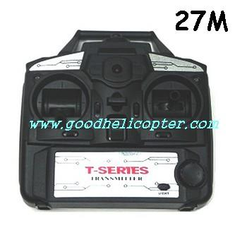 mjx-t-series-t11-t611 helicopter parts transmitter (27M)