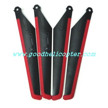 mjx-t-series-t11-t611 helicopter parts main blades (red-black color)