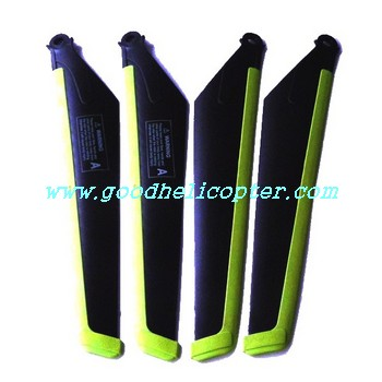 mjx-t-series-t11-t611 helicopter parts main blades (green-black color)
