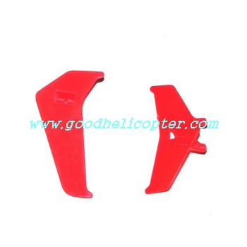 mjx-t-series-t20-t620 helicopter parts tail decoration set (red color)