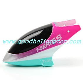 mjx-t-series-t38-t638 helicopter parts head cover (pink color)