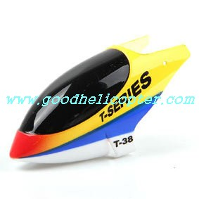 mjx-t-series-t38-t638 helicopter parts head cover (yellow color)