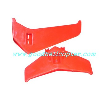 mjx-t-series-t54-t654 helicopter parts tail decoration set (red color)