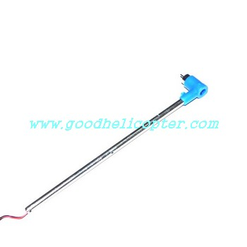mjx-t-series-t54-t654 helicopter parts tail big boom + tail motor + tail motor deck (blue color)