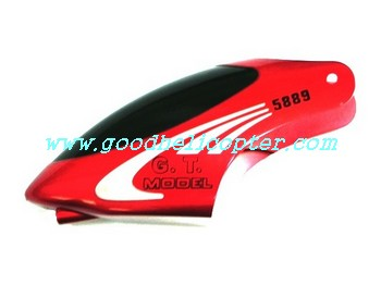 gt5889-qs5889 helicopter parts head cover (red color)