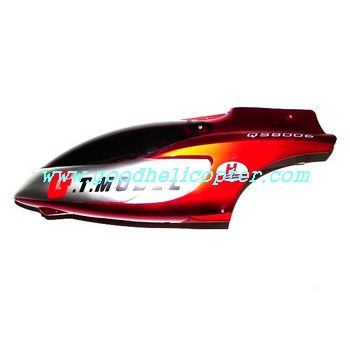 gt8006-qs8006-8006-2 helicopter parts head cover (red color)