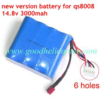 gt8008-qs8008 helicopter parts battery 14.8V 3000mAh (new version)