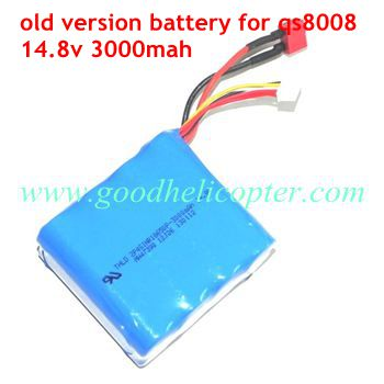 gt8008-qs8008 helicopter parts battery 14.8V 3000mAh (old version)