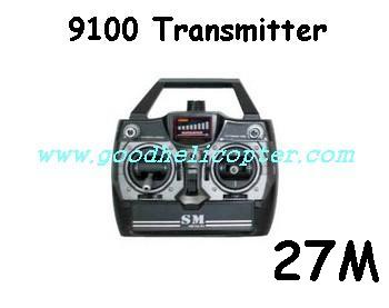 Shuangma-9100 helicopter parts transmitter (27M)