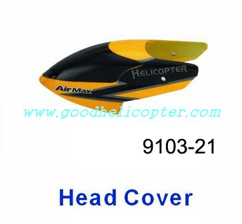 shuangma-9103 helicopter parts head cover (yellow-black color)