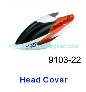 shuangma-9103 helicopter parts head cover (orange-white color)