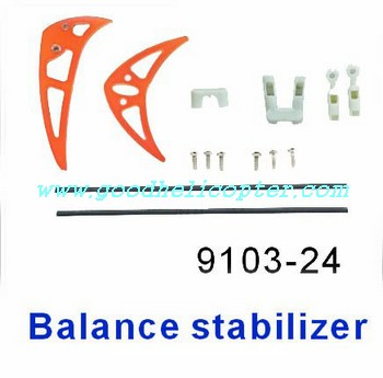 shuangma-9103 helicopter parts tail decoration se (orange color)