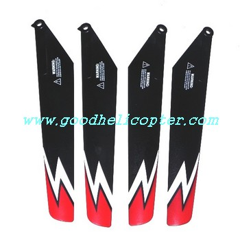 subotech-s902-s903 helicopter parts main blades (red-black color)