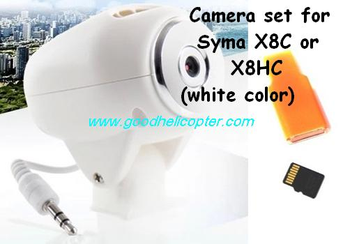 SYMA-X8HC-X8HW-X8HG Quad Copter parts X8C and X8HC Camera set + TF card + card reader (white color)