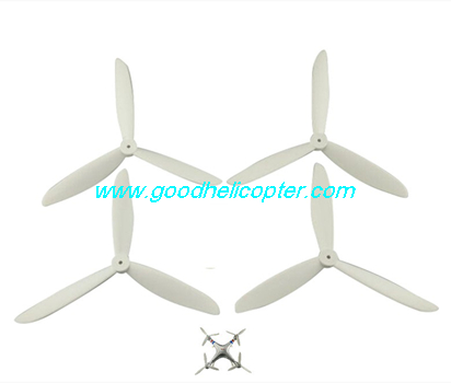 SYMA-X8HC-X8HW-X8HG Quad Copter parts 3 leaves Blades set (white color)