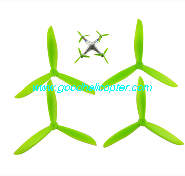 SYMA-X8HC-X8HW-X8HG Quad Copter parts 3 leaves Blades set (green color)