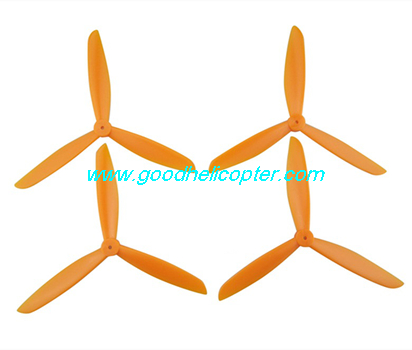 SYMA-X8HC-X8HW-X8HG Quad Copter parts 3 leaves Blades set (orange color)