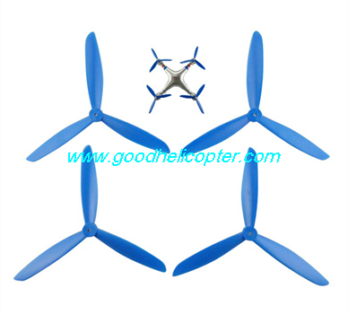 SYMA-X8HC-X8HW-X8HG Quad Copter parts 3 leaves Blades set (blue color)