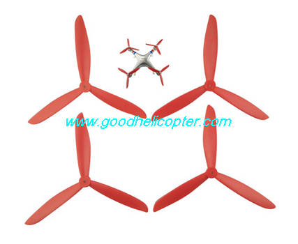 SYMA-X8HC-X8HW-X8HG Quad Copter parts 3 leaves Blades set (red color)