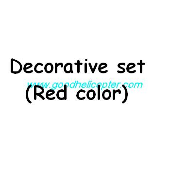 SYMA-X8HC-X8HW-X8HG Quad Copter parts Decoration set (red color)