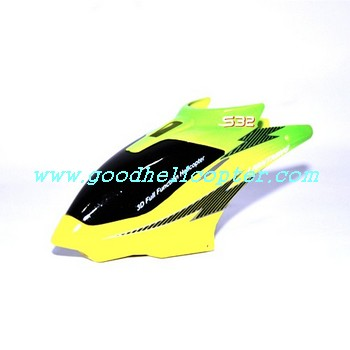 SYMA-S32-2.4G helicopter parts head cover (yellow-green color)