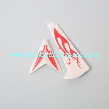 SYMA-S032-S032G-S032A helicopter parts tail decoration set (red-white color)