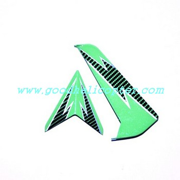 SYMA-S032-S032G-S032A helicopter parts tail decoration set (green-black color)
