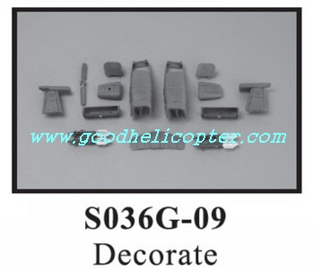 SYMA-S036-S036G helicopter parts decoration set