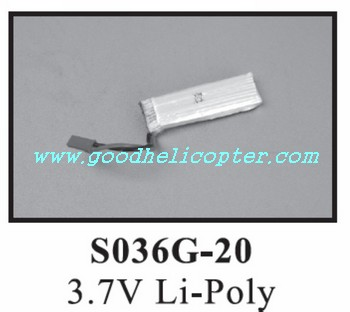 SYMA-S036-S036G helicopter parts battery 3.7V 500mAh
