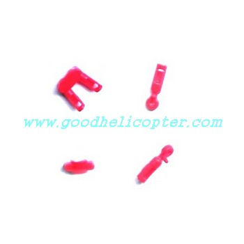 SYMA-S107N helicopter parts fixed set for tail decoration set and tail support pipe (red color)