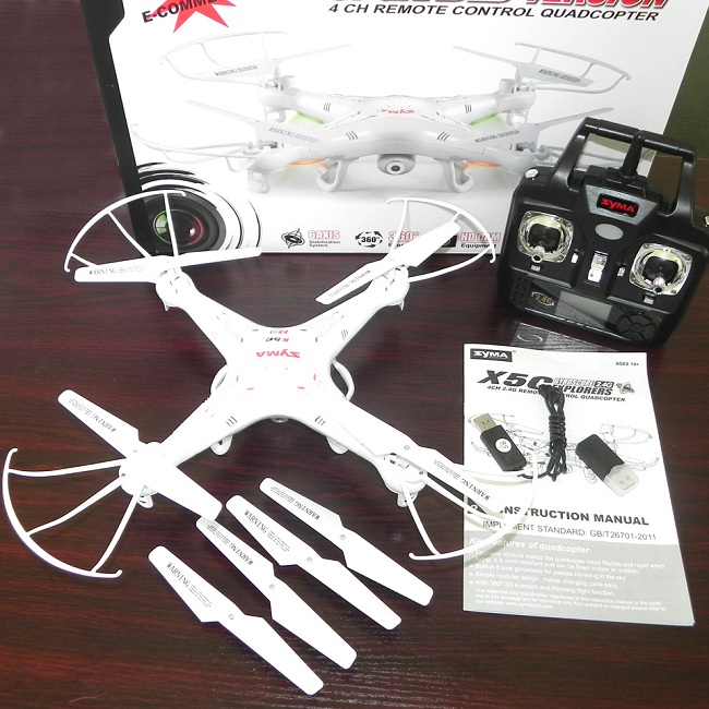 Drone Syma X5C High-quality SYMA X5 X5C 4CH 2.4G RC Remote Control Quadcopter Eversion Aircraft with 2.0MP HD Camera Toys 100% New Original