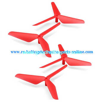 SYMA-X5-X5A-X5C Quad Copter parts Three leef upgrade main blades (forward + reverse) [Red]