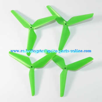 SYMA-X5-X5A-X5C Quad Copter parts Three leef upgrade main blades (forward + reverse) [Green]