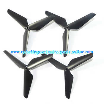 SYMA-X5-X5A-X5C Quad Copter parts Three leef upgrade main blades (forward + reverse) [Black]