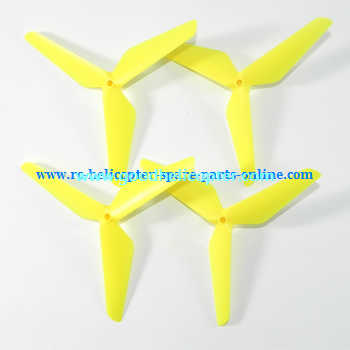 SYMA-X5-X5A-X5C Quad Copter parts Three leef upgrade main blades (forward + reverse) [Yellow]