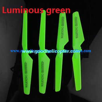 SYMA-X5-X5A-X5C Quad Copter parts blades (forward + reverse) [Luminous green]