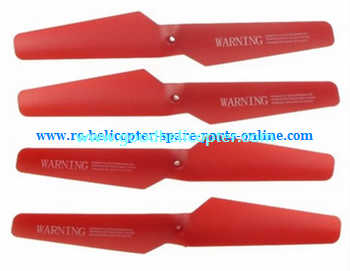 SYMA-X5-X5A-X5C Quad Copter parts blades (forward + reverse) [Red]